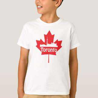 Toronto skyline and maple leaf T-Shirt