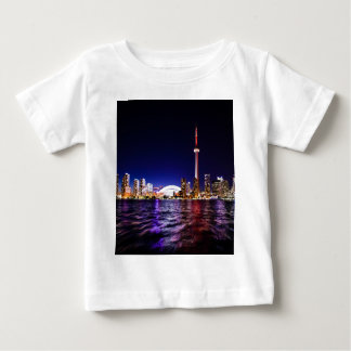 Toronto Skyline at Night Baby T-Shirt