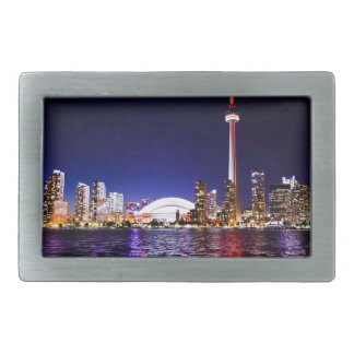 Toronto Skyline at Night Belt Buckles