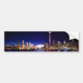 Toronto Skyline at Night Bumper Sticker