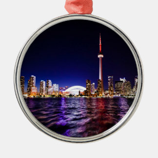 Toronto Skyline at Night Christmas Ornament