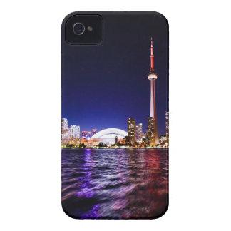 Toronto Skyline at Night iPhone 4 Covers