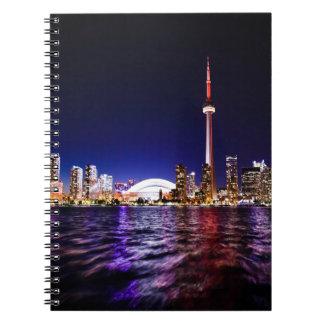 Toronto Skyline at Night Notebooks