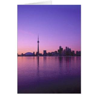 Toronto Skyline at night, Ontario, Canada Card