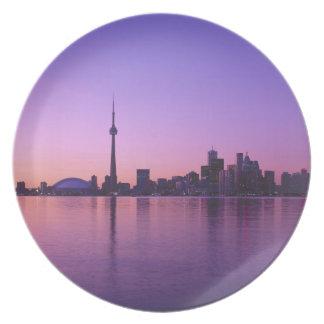 Toronto Skyline at night, Ontario, Canada Plate