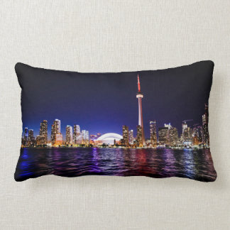 Toronto Skyline at Night Pillow
