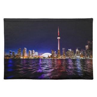 Toronto Skyline at Night Placemat