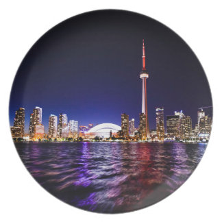 Toronto Skyline at Night Plates