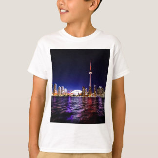 Toronto Skyline at Night T-Shirt