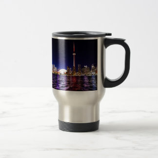 Toronto Skyline at Night Travel Mug