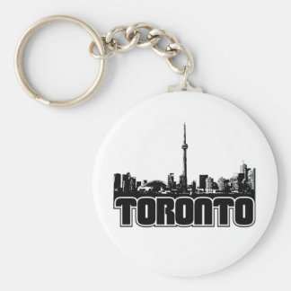 Toronto Skyline Basic Round Button Key Ring