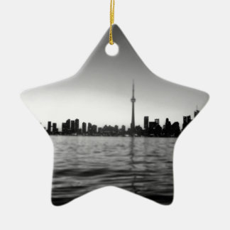 Toronto skyline ceramic star decoration