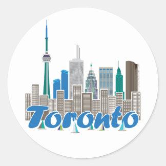 Toronto Skyline Classic Round Sticker