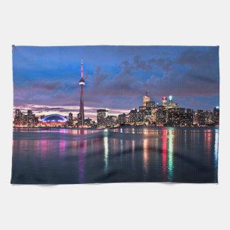 Toronto skyline hand towel