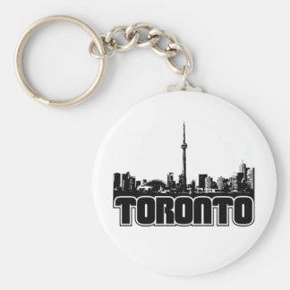 Toronto Skyline Key Ring
