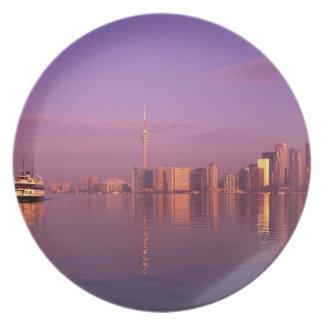 Toronto Skyline, Ontario, Canada Plate