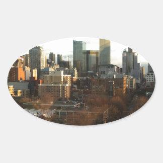 Toronto Skyline Oval Sticker