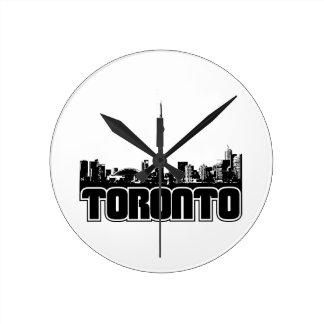 Toronto Skyline Round Clock
