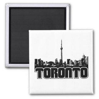 Toronto Skyline Square Magnet