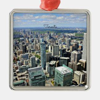 Toronto Skyscrapers - Toronto, Ontario, Canada Christmas Ornament