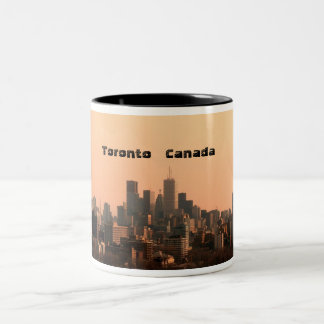 Toronto view Two-Tone coffee mug