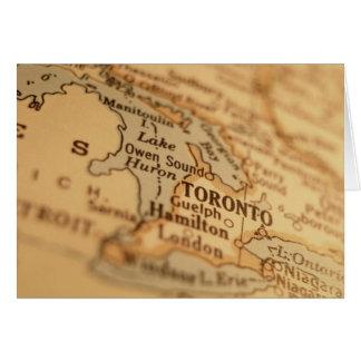 TORONTO Vintage Map Card