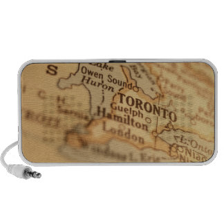 TORONTO Vintage Map Doodle Portable Speakers