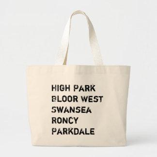 Toronto West Neighbourhood Large Tote Bag