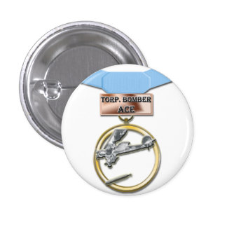 Torpedo Bomber Ace medal button