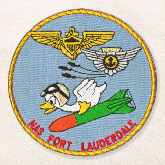 torpedo duck round paper coaster