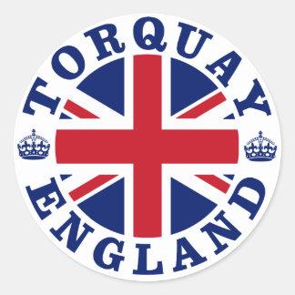 Torquay Vintage UK Design Classic Round Sticker