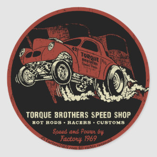 Torque Brothers TB018A Round Sticker