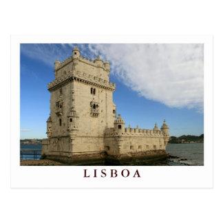 Torre de Belem Lisboa postcard