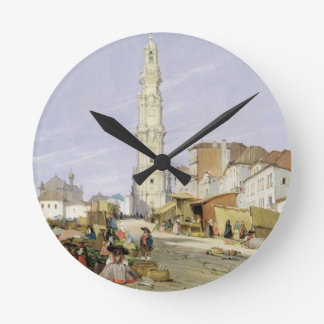 Torre dos Clerigos, Oporto, Portugal, 1837 (oil on Wall Clocks
