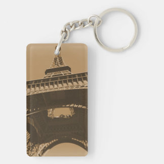 Torre Eiffel Double-Sided Rectangular Acrylic Key Ring