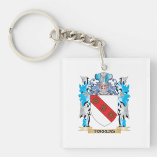 Torrens Coat of Arms - Family Crest Single-Sided Square Acrylic Key Ring