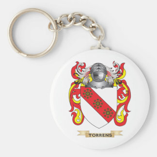 Torrens Family Crest (Coat of Arms) Basic Round Button Key Ring