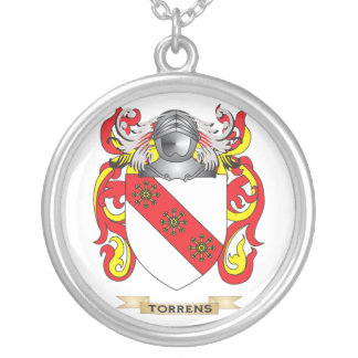 Torrens Family Crest (Coat of Arms) Round Pendant Necklace