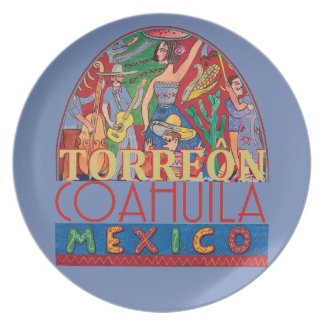 TORREON Mexico Dinner Plate