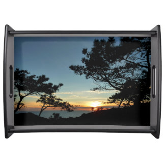 Torrey Pine Sunset III California Landscape Serving Tray