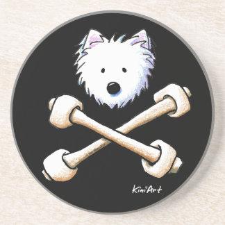 Torrid Westie Crossbones Coaster
