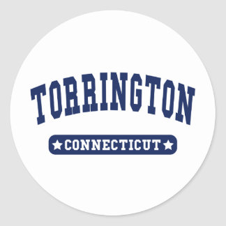 Torrington Connecticut College Style tee shirts Round Stickers