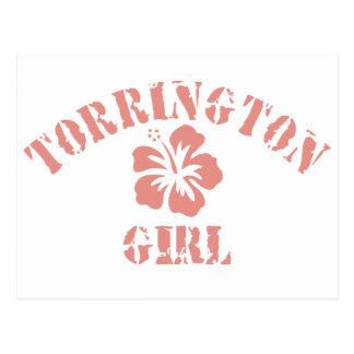 Torrington Pink Girl Postcard