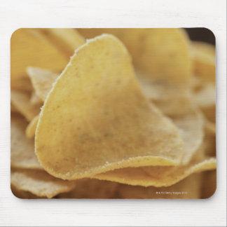 Tortilla chips in wooden bowl mouse mat