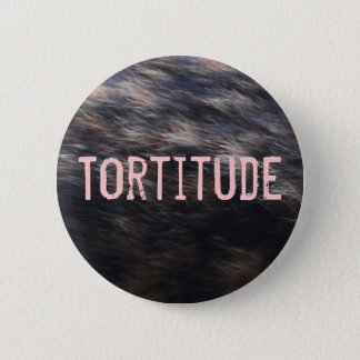 Tortitude tortoiseshell cat color pattern button