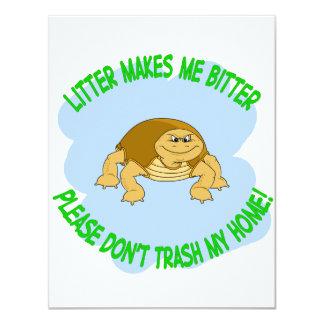 tortoise 11 cm x 14 cm invitation card