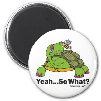 Tortoise and Bee 6 Cm Round Magnet