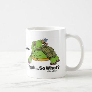 Tortoise and Bee. Basic White Mug