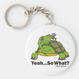 Tortoise and Bee Keychain