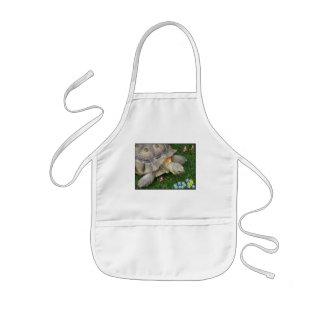 tortoise and flowers kids apron
